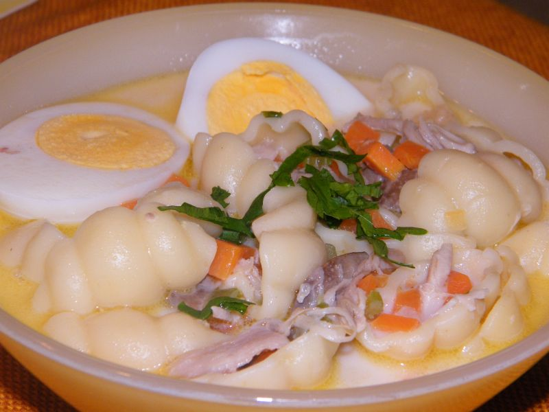 Chicken Macaroni Soup Recipe